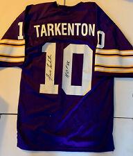 "Fran Tarkenton Signed Minnesota Vikings Mitchell & Ness Jersey ""HOF 86"" W/COA"