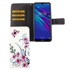Huawei Y6 2019 Hülle Case Handy Cover Schutz Tasche Flip Schutzhülle Wallet Weiß