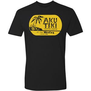 Retro Tiki Art Tee T Shirt Bar Mug Restaurant Aku Tiki Lincoln NW Villager