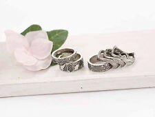 Korean Fashion Retro Carving Flower Set Jewelery Anti Silver Alloy Rings 6PCS