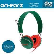 GENUINE ON-EARZ LOUNGE HEADPHONES GREEN RED OE-LOU10