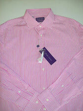 Ralph Lauren Purple Label Aston Collar Striped  Dress Shirt NWT 17  x 36  $425