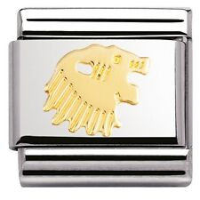 BRAND NEW GENUINE NOMINATION CLASSIC 18ct GOLD LEO ZODIAC ITALIAN CHARM