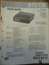 Sony D-T3  /  D-T30 Discman Service Manual