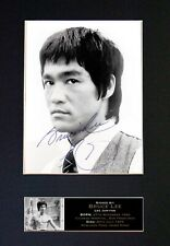 #768 BRUCE LEE No2 Signature/Autograph - Mounted Signed Photograph A4