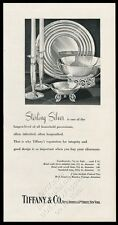 1950 Tiffany's sterling silver dolphin-foot bowl candlestick vintage print ad