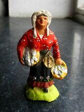 Santon en terre cuite peint Fouque - Poissonnière 6 cm