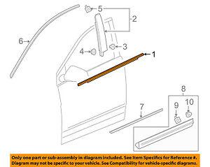 Cadillac GM OEM XT5-Door Window Sweep-Belt Molding Weatherstrip Right 84175957