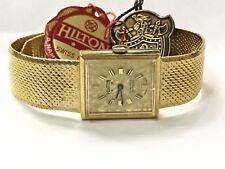 Vintage Hilton 17jewels Mechanical Windup Men's GoldTone Watch SWISS (HW-17JS)