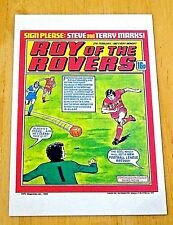 ROY OF THE ROVERS COMIC POSTCARD  'NEW FOOTBALL LEAGUE RECORD' 27th FEB 1982