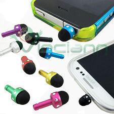 Pennino stylus brillantini+tappo anti polvere per Apple iPhone 3GS 4 4S metallo