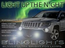 2011 2012 2013 Jeep Compass Xenon Halogen Bumper Fog Lamps Driving Lights Kit