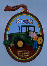 Enesco John Deere ornament Nib #642738 Dated 2002