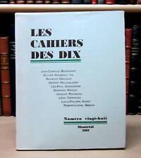 LES CAHIERS DES DIX. NUMÉRO 28.