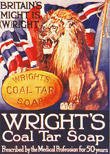 ROBERT  OPIE  ADVERTISING  POSTCARD  -  WRIGHT'S  COAL  TAR  SOAP