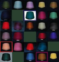 FINETEX 2/24 HI-BULK ACRYLIC YARN FAB COLORS CONES AVG 2+ LBS.