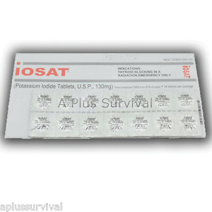 ** IOSAT 14 Tablets Potassium Iodide Pills KI Radiation Protection FDA Approved