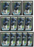 2014 Bowman Draft Lewis Brinson (12) Card Black Asia Exclusive Lot Marlins