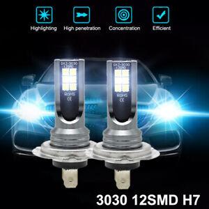 2x H7 LED Motorrad Lampen Kit Fern-/Abblendlicht Auto Scheinwerfer Birne 6500K