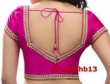 Readymade Saree Blouse, Designer Kundan Border Sari Blouse, Party Wear Sari Top