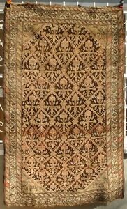 A Great Antique Rug with Flowers