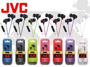 JVC Xtreme Ear Phone Rugged Inner-Ear Deep Bass Headphones In Line Mic HA-FR201