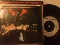 """DIRE STRAITS MONEY FOR NOTHING 1985 UK VERTIGO 7"""" 45 DSTR 10"""