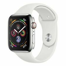 Apple Watch Series 3 GPS + Cellular 44mm Cassa di Alluminio Argenta, Cinturino Sport Bianco, Smartwatch (MTX02TY/A)