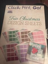 My Craft Studio Click, Print, Go! Trio Christmas Design Sheets PC CD-ROM