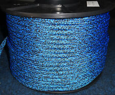 8MM X 50Mtr DOUBLE BRAID POLYESTER YACHT ROPE - SPOTTED BLACK / BLUE