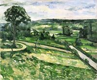 The Tree by the Bend by Paul Cezanne Giclee Repro on Canvas