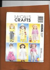 "Mccalls 18"" American Girl Doll Clothes Pattern 4066"