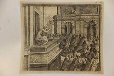 David et Bethsabée, eau-forte d'Orazio Borgianni après Raphael, 1615