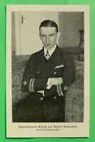 UM1) Marine Kapitänleutnant Treusch von Buttlar 1914-1918 Pour le Merite 1.WK WW