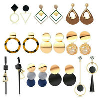 Women Boho Statement Geometric Big Pendant Ear Stud Dangle Drop Earrings Jewelry