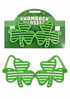 Irish Clover Shutter Sunglasses St Patricks Day Irish Fancy Dress Shamrock