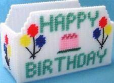 Needlepoint on plastic canvas Happy birthday Napkin Holder n Boutique Tissue box