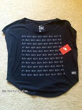 Nike Women's Black History Month BHM T-Shirt Casual Tee black M Special New