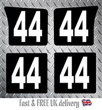 Kart Race Numbers including Background x 4 - MSA 2019 Compliant (BW) S2