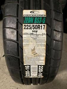 1 New 225 50 17 Cooper Zeon RS3-S Tire