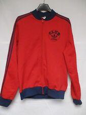 Veste CLUB ADIDAS vintage rouge tracktop jacket Ventex 80's TREFOIL S