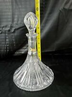 VTG GENUINE LEAD CRYSTAL Hand Cut GLASS DECANTER Over 24% PbO Western Germany