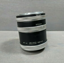 Vivitar Automatic Extension Tube Set CANON FL-FD AT-4 12mm 20mm 36mm
