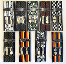 MEN'S PATTERNED BOXED TROUSER  BRACES WIDTH 35MM - ONE SIZE - ADJUSTABLE