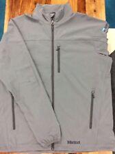 Marmot Mens Tempo Jacket M3 Soft Shell Size XXL Gray Jacket With Logo