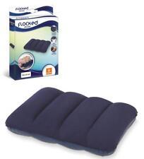 Almohada cojin  flocado hinchable 53x37cm suave comodo ideal para viaje