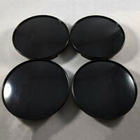 4Pcs/Set 68mm Universal Car Wheel Center Hub Caps Covers No Emblem ABS Black