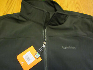 APPLE MAPS Employee Only SOFT SHELL JACKET XL Black BRAND NEW w/TAGS BNWT iPhone