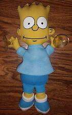 "Vintage 1990 Bart Simpson The Simpsons 11"" Car Window Suction Cup Plush Stick-On"