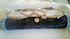 THREE BRACELETS- ASSORTED-EACH FROM DIFFERENT DESIGN, GOLD TONE